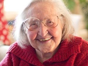 Faith at her 98th birthday party (c) Carole Craig